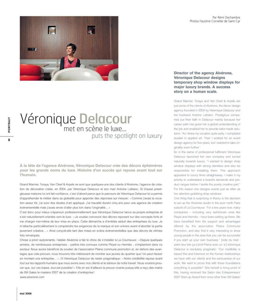 Article Alvérone dans Côté Paris mai 2008